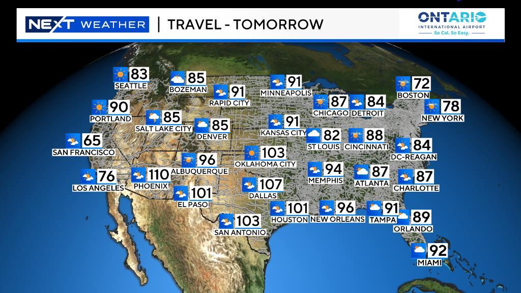 Web TravelTom Travel Forecast Tomorrow