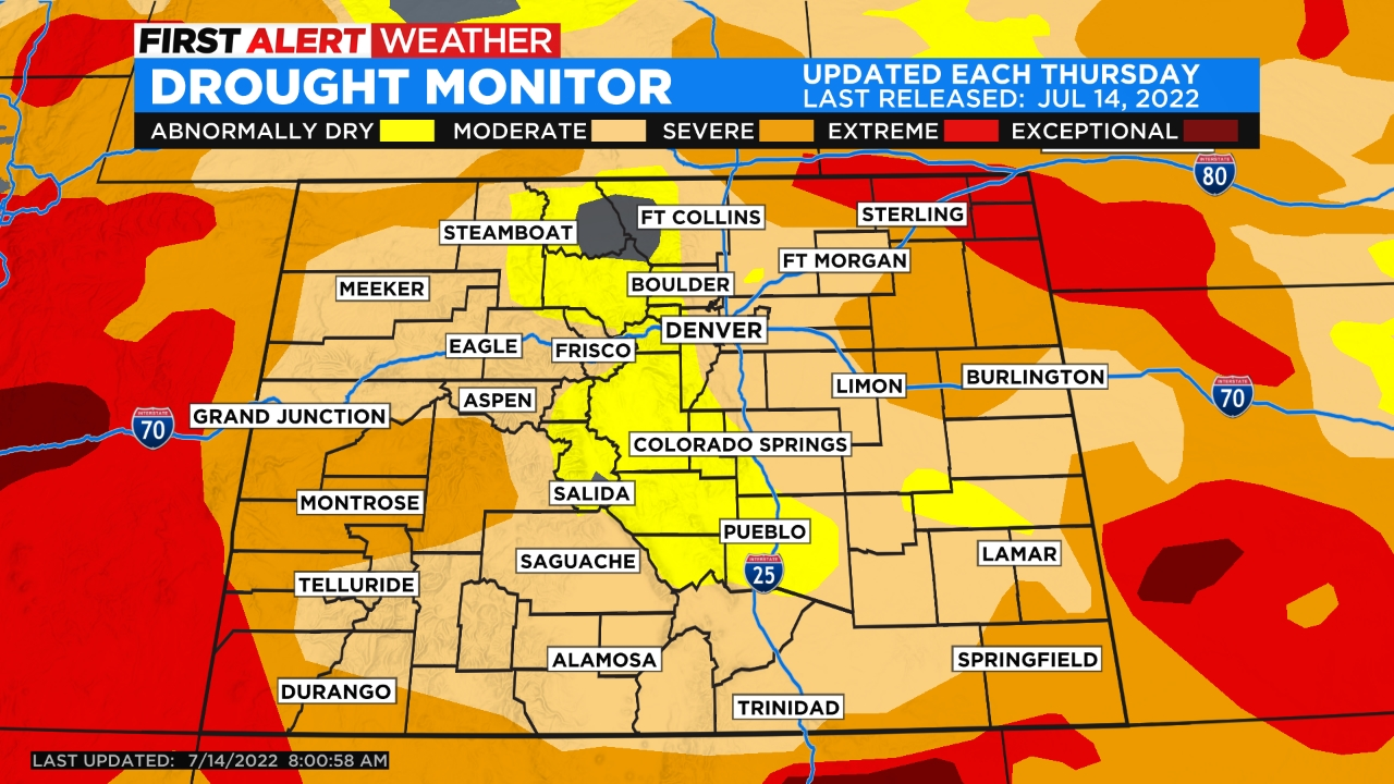 drought monitor Soothing Seventies For Last June Weekend