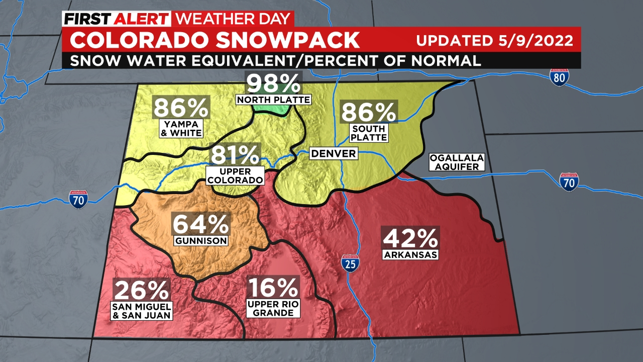 snowpack Snow Heading For The Mountains, Warmer Temps East