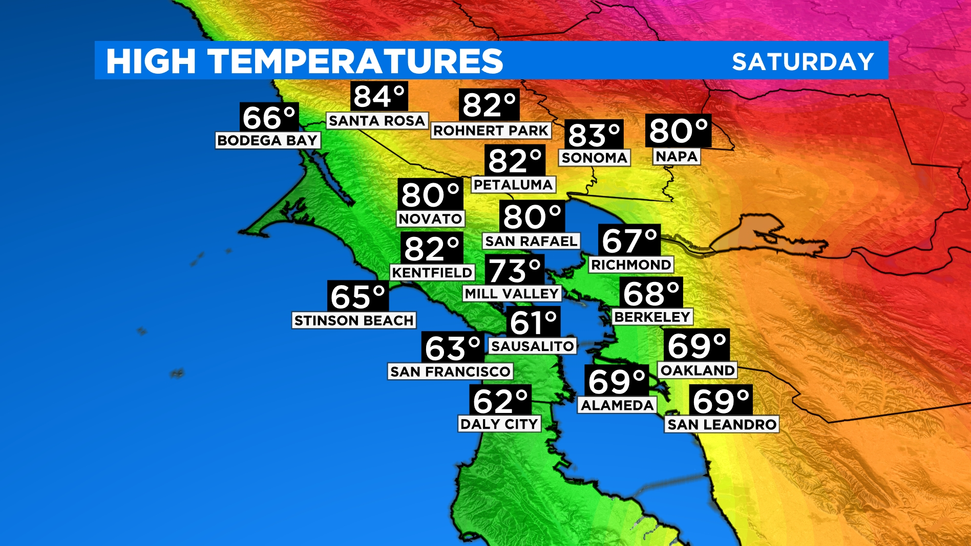 NORTH BAY HIGHS large North Bay Temp Forecast