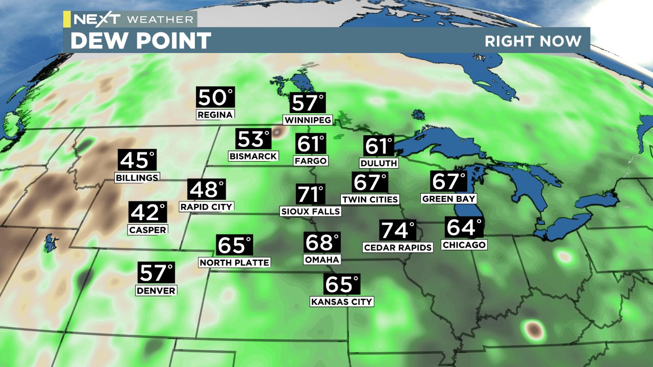 midwest dew Regional Dew Points