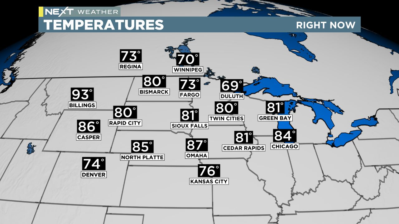 midwest temps Midwest Temperatures
