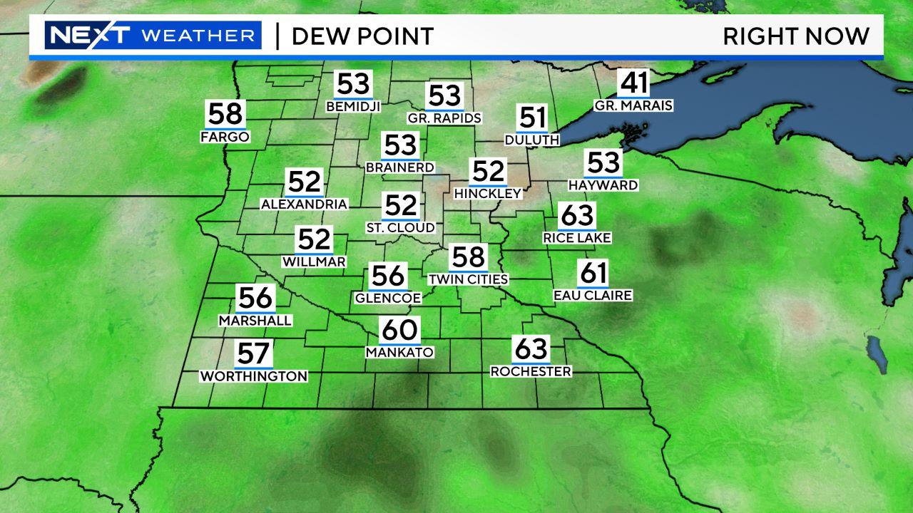 Maps Radar WCCO CBS Minnesota - Map of dew points us