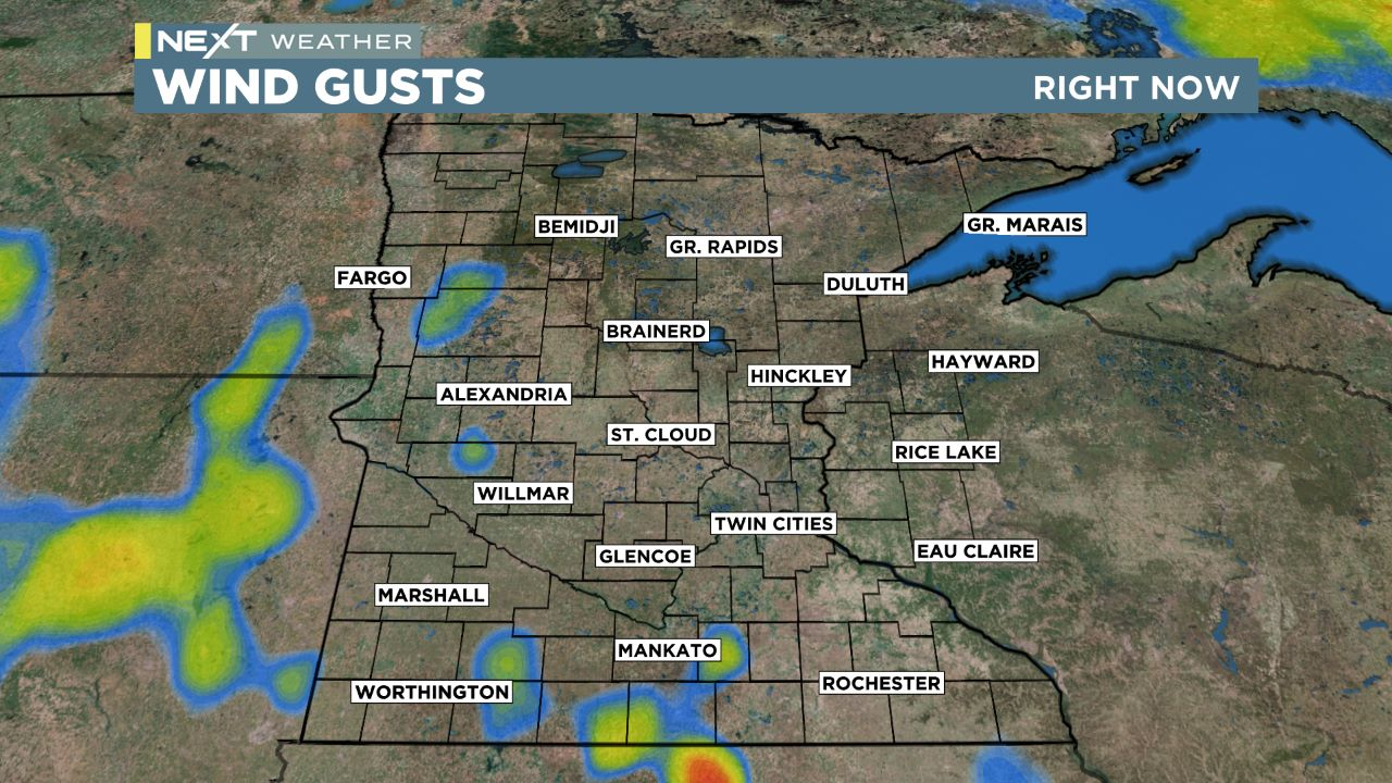 mn gusts Regional Gusts