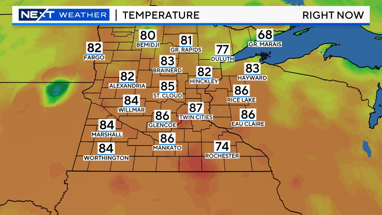 mn temps Regional Temperatures