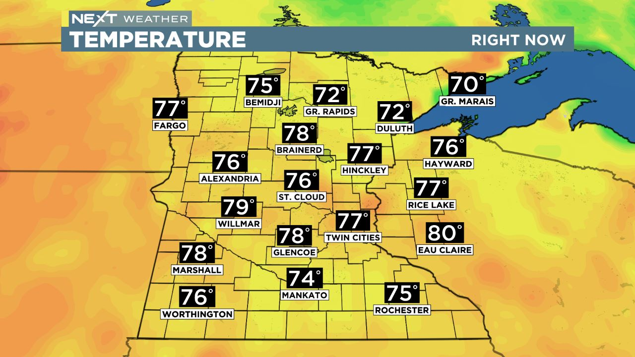 mn temps Regional Temperatures