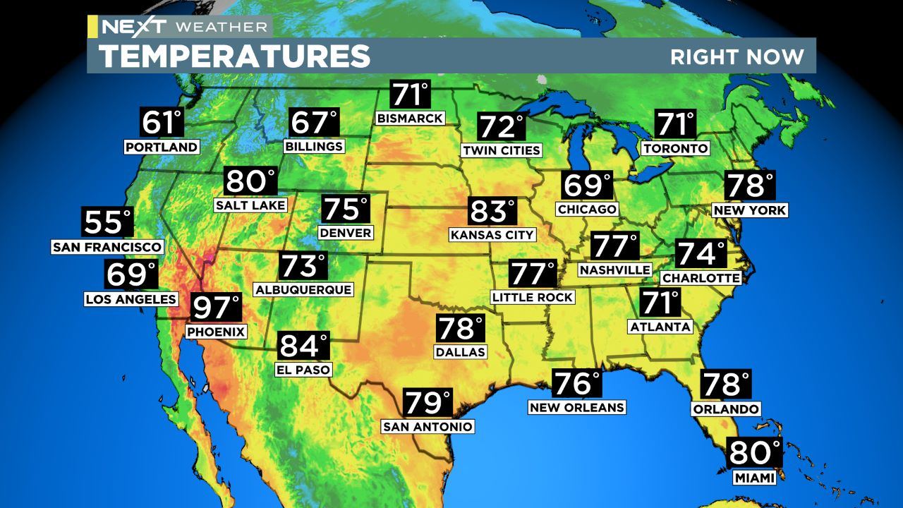 usa temps USA Temperatures